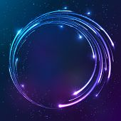Bright colors shining neon lights vector circle background poster