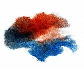 ink blue red watercolor paint splatter splash grunge background blot abstract texture splat art spray poster
