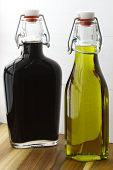 Delicious olive oil made from fresh cold pressed olives and balsamic vinegar. poster