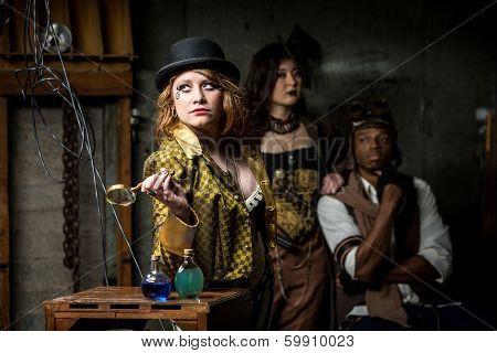 Steampunk Trio With In Retro Lab
