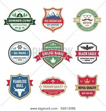 Badges Collection in Vector Format for Different Design Works.