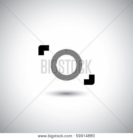 Camera Vector Icon - Digital Camera Symbol Minimalistic Design