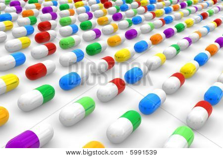 Farbe Pillen