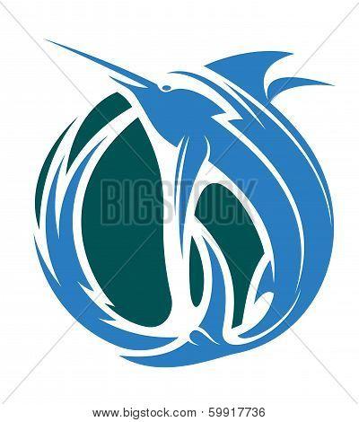 Marlin fishing icon