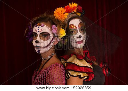 Day Of The Dead Mother And Daughter