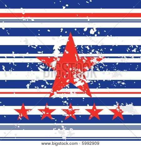Background with red star
