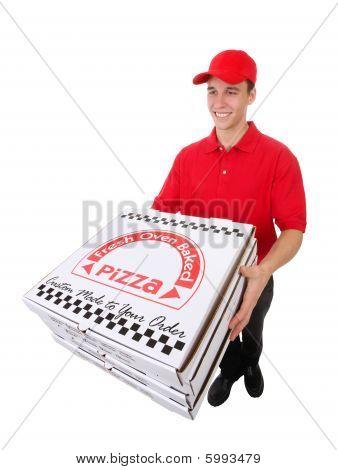 Man Delivering Pizzas