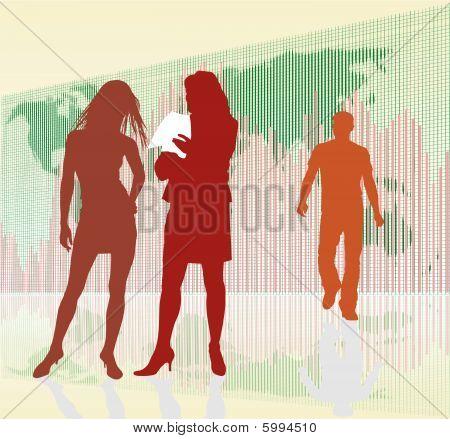 Businesswoman, Rising Global Profits