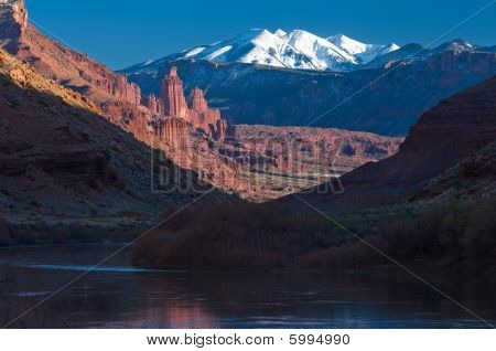 Fisher Towers And La Sal Mountains