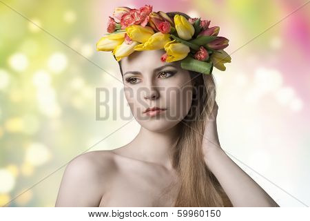 Girl With Colorful Spring Style