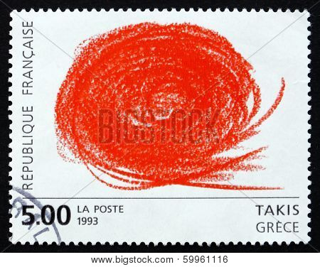 Postage Stamp France 1993 Abstract, By Takis Vassilakis