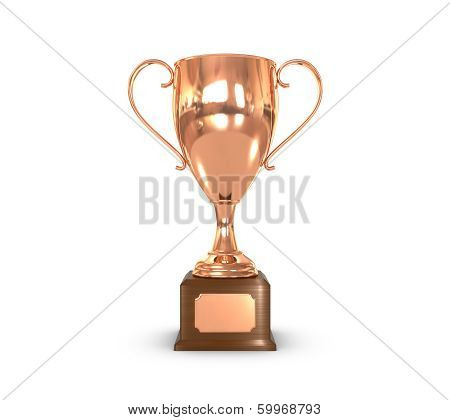 Trophy Cup Bronce Front