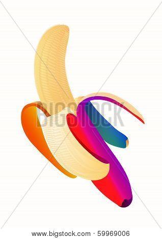 rainbow banana