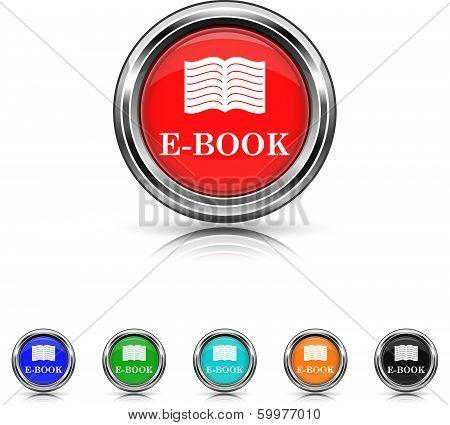 E-book Icon - Six Colors Vector Set