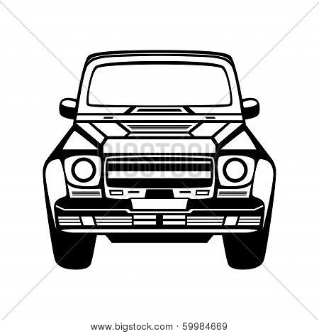 Car Icon. Isolated On White Background.