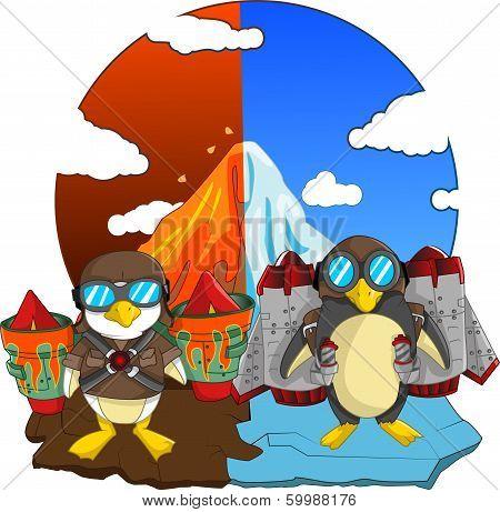 Penguin with Jetpacks