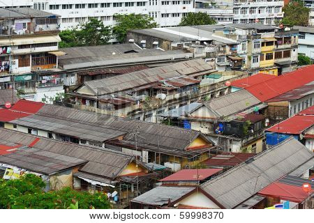 Slum area in Bangkok