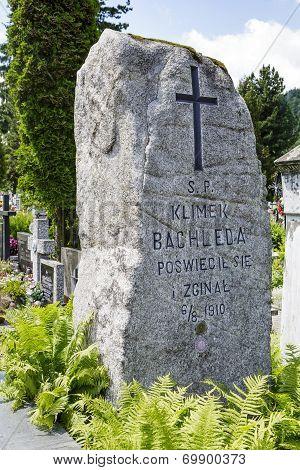 Memorial To Klemens Bachleda, Zakopane