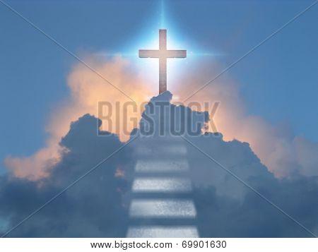 Cross radiates supernatural energy