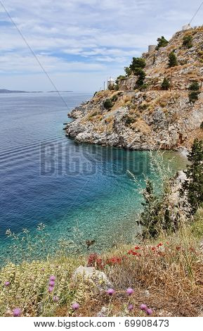 Landscape In Hydra, A Greek Island