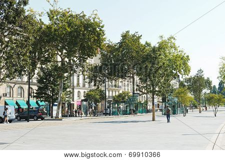 Street Cours Franklin Roosevelt In Nantes, France
