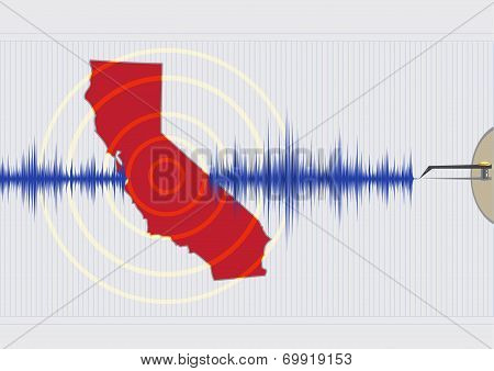 California Earthquake Concept Vector EPS10 and Raster