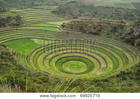 Moray Inca's Ruins, in Sacred Valley, Peru