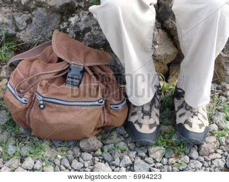 Boots And Backpack