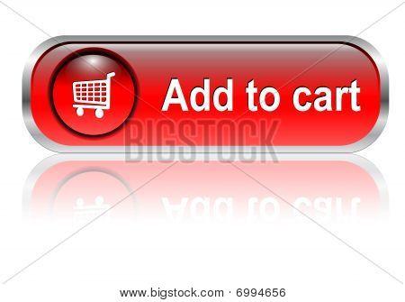 botão de ícone do carrinho de compras,
