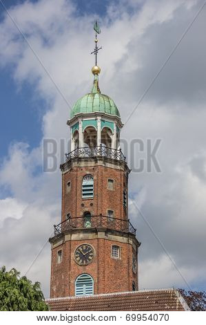 Tower Of The Evangelical Church In Leer