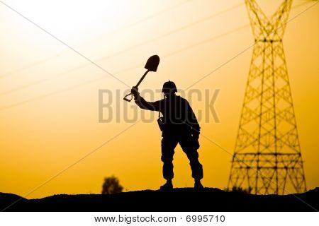Soldier With A Shovel