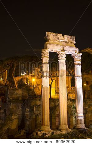 Roman Forum at Night