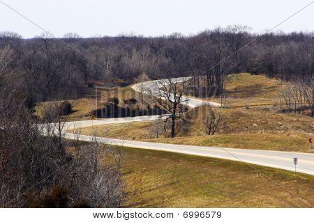 Farm Roads From Air