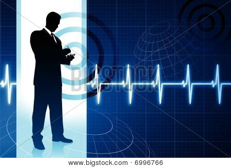 Business People On Pulse Background