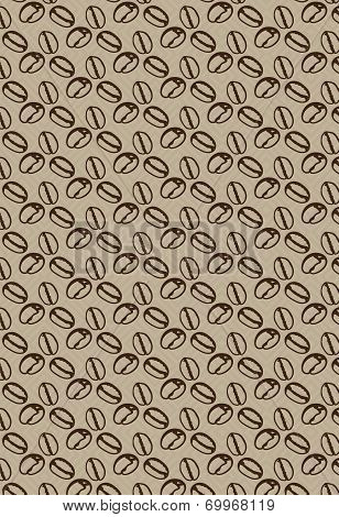 Pattern with coffee beans