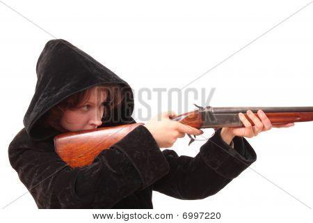 The Girl with handgun