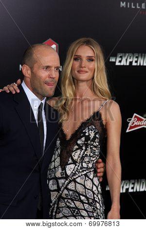 LOS ANGELES - AUG 11:  Jason Statham, Rosie Huntington-Whiteley at the