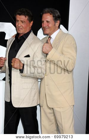 LOS ANGELES - AUG 11:  Sylvester Stallone, Frank Stallone at the