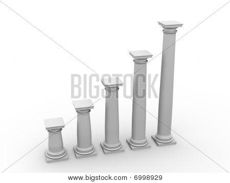 Monochromic Image Of Classic Columns