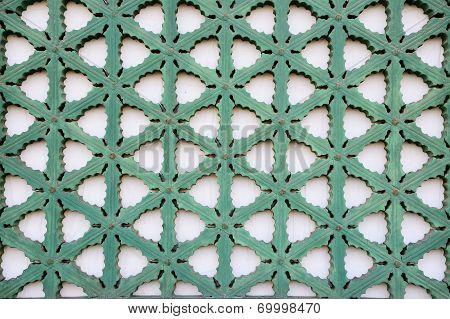 Traditional Windows Frame Pattern Of Gyeongbok Palace In Korea