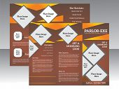 abstract parlor tri fold brochure vector illustration poster