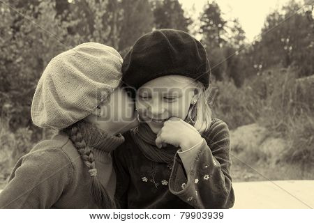 Girls Tell Each Other Secrets, Sitting At The Bus Stop