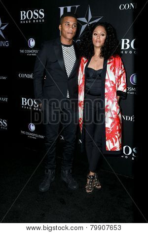 LOS ANGELES - JAN 9:  Cory Hardrict, Tia Mowry at the W Magazine`s Shooting Stars Exhibit at the Old May Company Building on January 9, 2015 in Los Angeles, CA