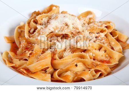 Italian Pasta Fattuccine Bolognese