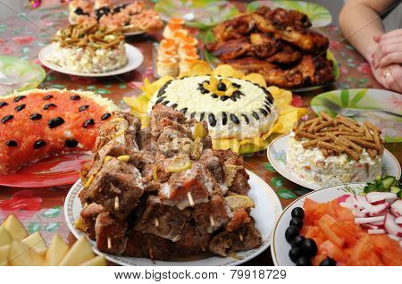 Fish Kebabs And Other Dishes