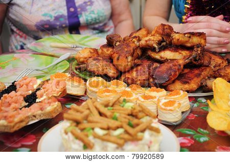 Roasted Chicken And Dishes On Setout