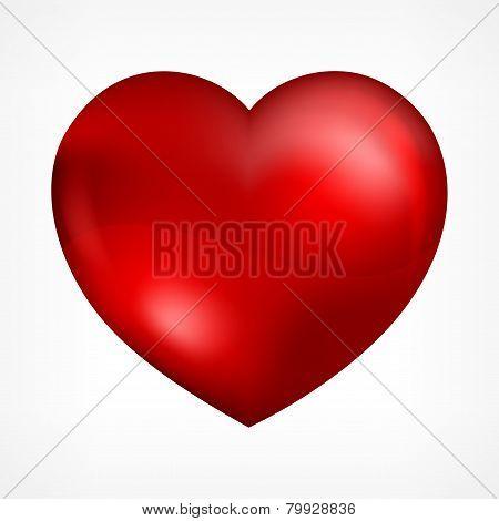 Heart On White