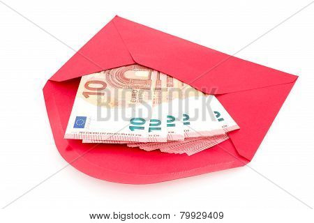 Red Envelope With Money