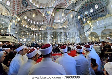 Muslims Gathered In Mosques