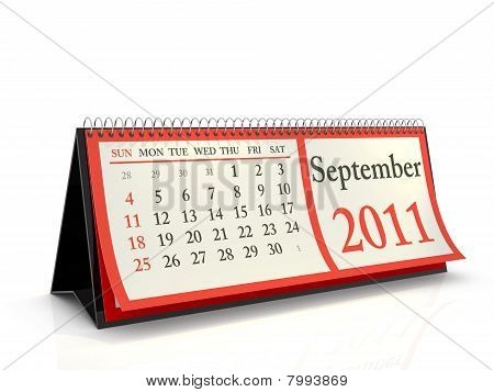 Desktop Calendar 2011 September